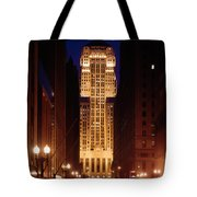 Buildings Lit Up At Night, Chicago Tote Bag