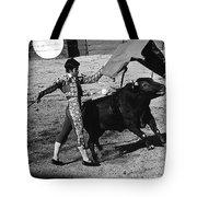 Bull Fight Matador Charging Bull Us-mexico  Border Town Nogales Sonora Mexico 1978-2012 Tote Bag