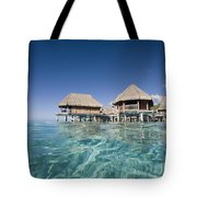 Bungalows Over Ocean Tote Bag
