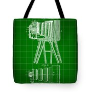Camera Patent 1885 - Green Tote Bag
