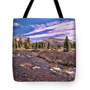 Canadian Rockies Stream Tote Bag
