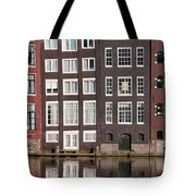 Canal Houses In Amsterdam Tote Bag