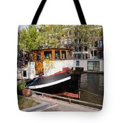 Canal In The City Of Amsterdam Tote Bag