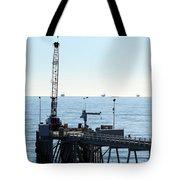 Carpinteria Pier Tote Bag