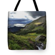 Cascade In Lower Ice Lake Basin Tote Bag