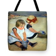 Cassatt's Children Playing On The Beach Tote Bag
