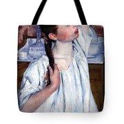 Cassatt's Girl Arranging Her Hair Tote Bag