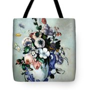 Cezanne's Flowers In A Rococo Vase Tote Bag
