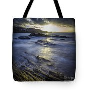 Chamoso Point In Ares Estuary Galicia Spain Tote Bag