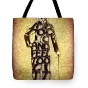 Charles Chaplin Quote Typography Art Tote Bag