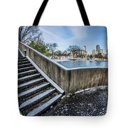 Charlotte North Carolina Marshall Park In Winter Tote Bag