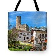 Chatelard Village With Castle Tote Bag