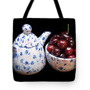 Cherries Invited To Tea Tote Bag