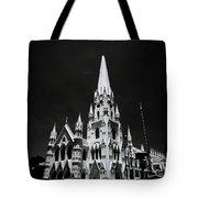 Black And White Basilica Tote Bag