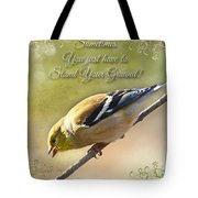 Chirping Gold Finch Tote Bag