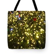 Christmas Tree Ornaments Faneuil Hall Tree Boston Tote Bag