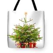 Christmas Tree Decorated With Presents  Tote Bag