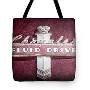 Chrysler Fluid Drive Emblem Tote Bag