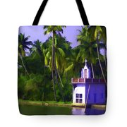 Church Located Next To A Canal Tote Bag