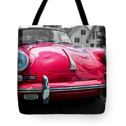 Classic Red P Sports Car Tote Bag