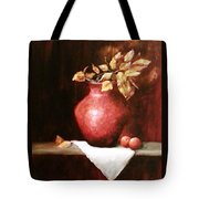 Clay Vessel And Peaches Tote Bag