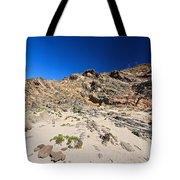cliff in San Pietro island Tote Bag