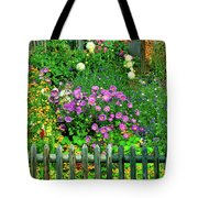 Close-up Of Flowers, Muren, Switzerland Tote Bag