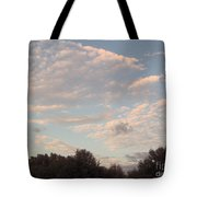 Clouds Above The Trees Tote Bag