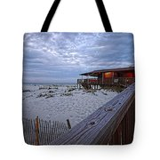 Cloudy Morning At The Sea N Suds Tote Bag