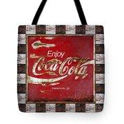 Coca Cola Signs Tote Bag