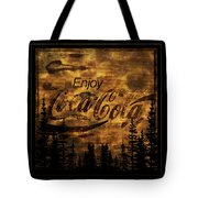 Coca Cola Wooden Sign Tote Bag