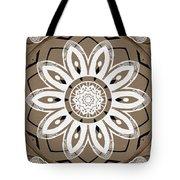 Coffee Flowers 8 Olive Ornate Medallion Tote Bag