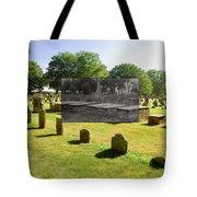 Col. Benjamin Church And Elisabeth Pabodie Gravesites In Little Compton Ri Tote Bag