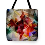 Colorful Geometric Abstract Tote Bag