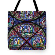 Colourful Stained Glass Window In Tote Bag