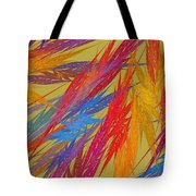 Computer Generated Abstract Fractal Flame Tote Bag