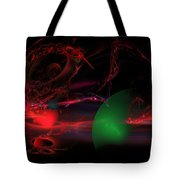Computer Generated  Spheres Abstract Fractal Flame Modern Art Tote Bag