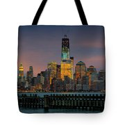Construction Of The Freedom Tower Tote Bag