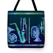 Cool Blue Band Tote Bag