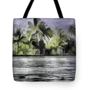 Cottage With Greenery All Around Tote Bag