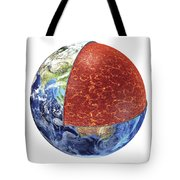 Cross Section Of Planet Earth Showing Tote Bag