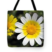 Crown Daisy Flower Tote Bag by George Atsametakis
