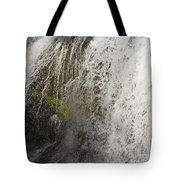 Curtain Of White Water Falling From Rocky Cliff Tote Bag
