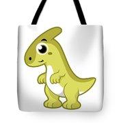 Cute Illustration Of A Parasaurolophus Tote Bag