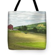 Cutting Hay In Summer On Maine Farm Tote Bag