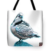 Cyan Pigeon Pop Art 5516 - Fs - Bb -  Modern Animal Artist James Tote Bag