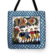 Dancing Men  Tote Bag