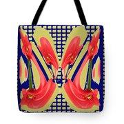 Dancing Tulip Red Exotic Flower Petal Based Wave Pattern  Created By Navinjoshi Reiki Healing Master Tote Bag