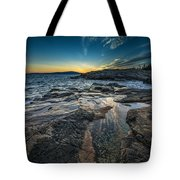 Day's End At Scoodic Point Tote Bag