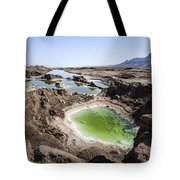 Dead Sea Sinkholes  Tote Bag by Eyal Bartov